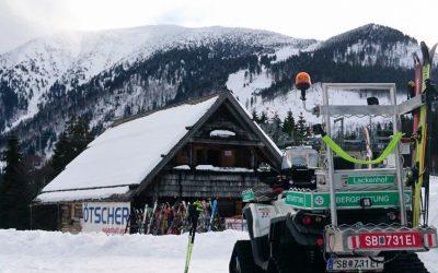 Lawinenübung – Lackenhofer Bergretter trainieren mit ihren Skitourenfreunden