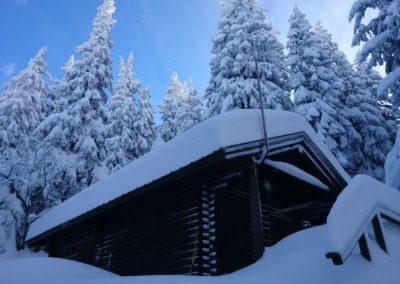 Bergrettungshütte Winter